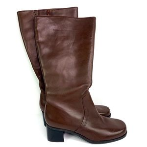 Naturalizer | Women's Brown Leather Heeled Boots